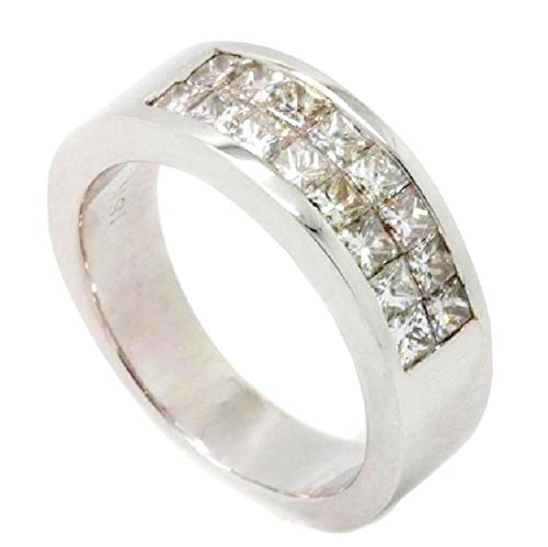 Diamond Ring 1.06 ct D VVS Princess Invisble Setting Solid 18k Gold AMAZING for Valentines Day