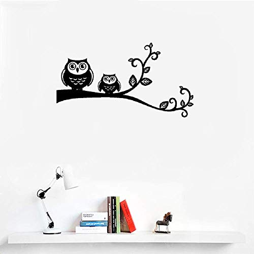 Wall Stickers Design Art Words Sayings Removable Lettering French Quote Mère Et Petite Chouette Sur Une Branche Pour Chambre D'Enfant Salon for Kids Room Living Room Bedroom