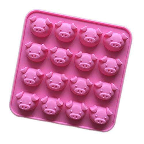Chocolate Pig - Longzang 16 Cavity Pig Silicone mold for Candy Chocolate Cake Jelly (XJ564)