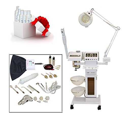 11 in 1 Multifunction Facial Machine with Facial Steamer & Magnifying Lamp by LCL Beauty