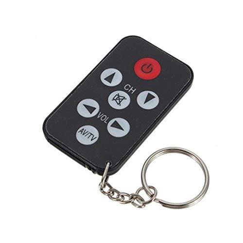 Hot Sale!DEESEE(TM)Black Universal Infrared IR Mini TV Remote Control Key Ring Key Ring 7 Keys