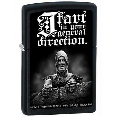 2x2-Monty-Python-I-Fart-Black-Matte-Zippo-Lighter
