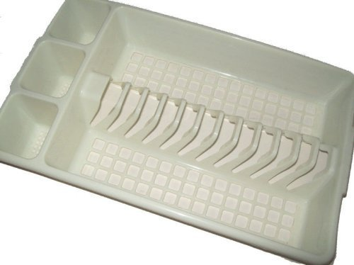 Beige Platic Kitchen Cutlery Drainer Sink Tidy by My Bargains Online Shop by My Bargains Online Shop