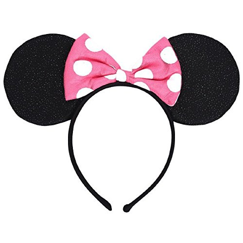 Mickey And Minnie Mouse Halloween Costumes Adults (Minnie Mouse Deluxe Mouse Ears Headband-1 Piece)