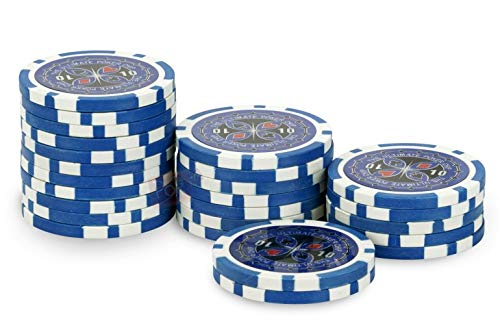 Rouleau 25 jetons Ultimate Poker Chips 10 Bleu