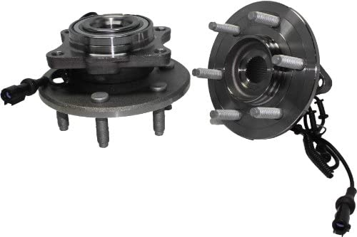 Brand New (Both) Rear Wheel Hub and Bearing Assembly - 6 Lug w/ABS (Pair) Rectangular Flange - 2003-2006 Ford Expedition - [2003-2006 Lincoln Navigator]