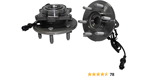 AutoForever 2PCS 541001 Rear Wheel Hub Bearing Assembly Fit for 2003-2006 Lincoln Navigator Ford Expedition 2WD 4WD 6 Lug W//ABS