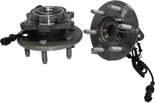 Brand New (Both) Rear Wheel Hub and Bearing Assembly - 6 Lug w/ABS (Pair) Rectangular Flange - 2003-2006 Ford Expedition - [2003-2006 Lincoln Navigator] ()