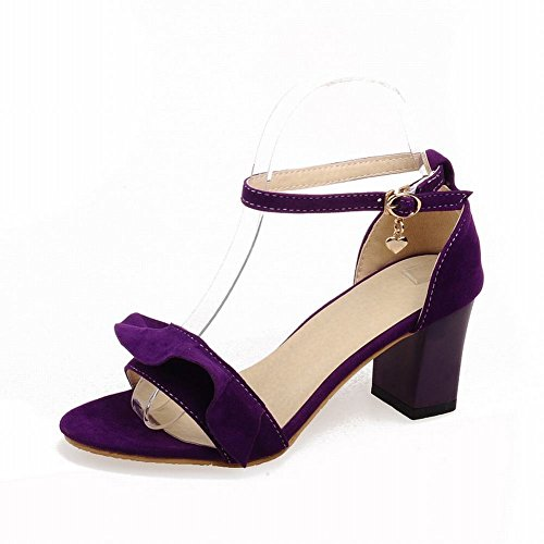 Carol Shoes Grace Womens Buckle Fashion Ankle-strap Chic Chunky High Heel Sandals Purple fVy8haz6