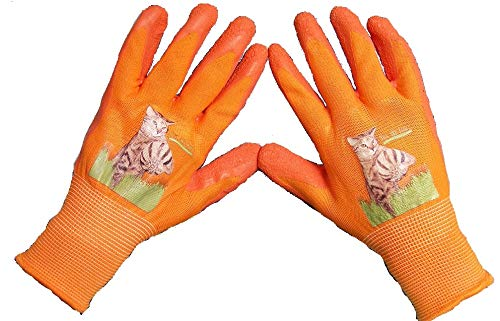 Fantastic Helper Kids Gardening gloves, Latex Coated (3 pairs), ages 6-12, Boys and Girls. 90-Day Free Exchanges and No Hassle Returns! by Fantastic Helper