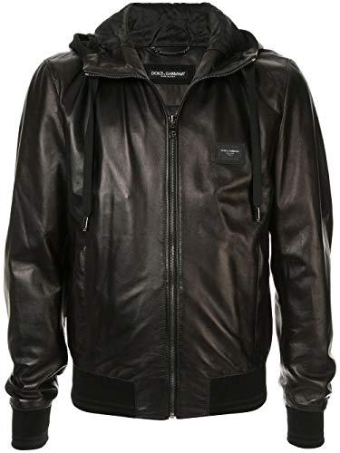 Dolce e Gabbana Luxury Fashion Man G9PB8LFUL89N0000 Black Leather Outerwear Jacket | Fall Winter 19