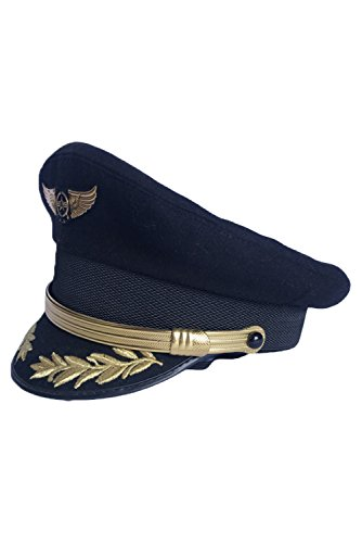 Custom Upscale Pilot Cap Airline Captain Hat Sailor Uniform Cap -
