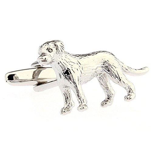 Cufflinks Executive (Men's Silver Tone Standing Labrador Retriever Puppy Dog Executive Cufflinks Cuff Links)