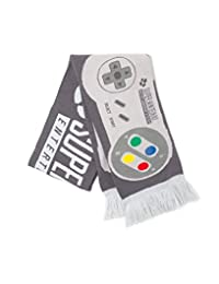 Nintendo Officially Licensed Super Controller Grey Knitted Scarf
