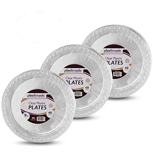 (Clear Disposable Plastic 9 Inch Plates (120)