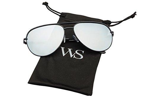 70acec10fd Jual WealthyShades- Aviator sunglasses Mirrored flat lens ...