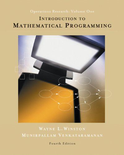 Introduction to Mathematical Programming: Operations Research, Vol. 1 (Book & CD-ROM) by Thomson