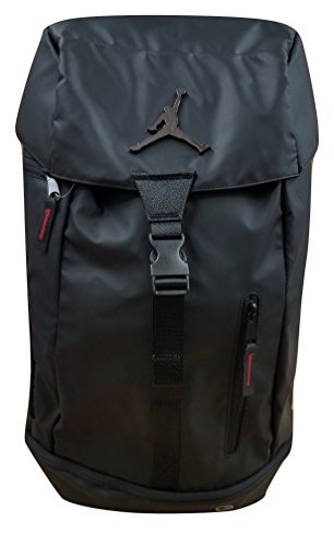 Nike Jordan Multi-Purpose/Multi-Pocket Laptop Backpack 9A1876-023 Black/Black/Red
