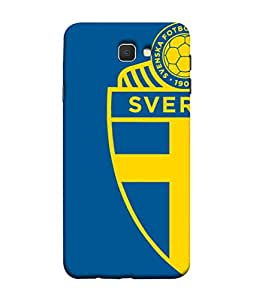 ColorKing Football Sweden 05 Blue shell case cover for Samsung J5 Prime