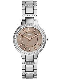 Women's ES4147 Virginia Three-Hand Stainless Steel Watch