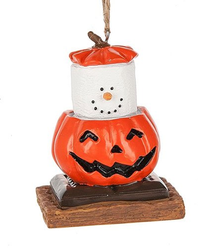 S'mores 2017 Pumpkin Jack O Lantern Ornament