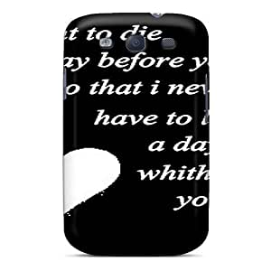 Galaxy S3 Case Cover - Slim Fit Tpu Protector Shock Absorbent Case (whithout You)