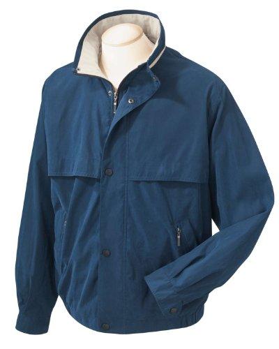Chestnut Hill Lodge Microfiber Jacket - NEW NAVY/STONE - 4XL