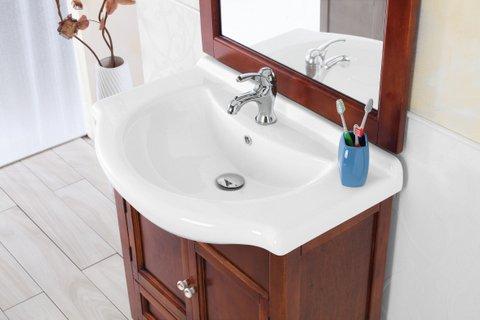 Mobili Rustici Bagno : Mobile arredo bagno arte povera cm 75 in massello noce con lavabo in