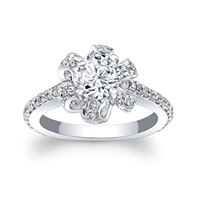 Diamond Anniversary Rings For Women 14K White Gold 2.00 Ct Round Cut Solitaire Band Size I J K L M N O P Q R S T oULRzcl