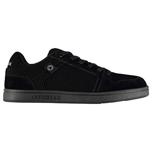 Airwalk Mens Brock Skate Shoes Lace Up Suede Accents Sport Casual Trainers Black UK 9 (43)