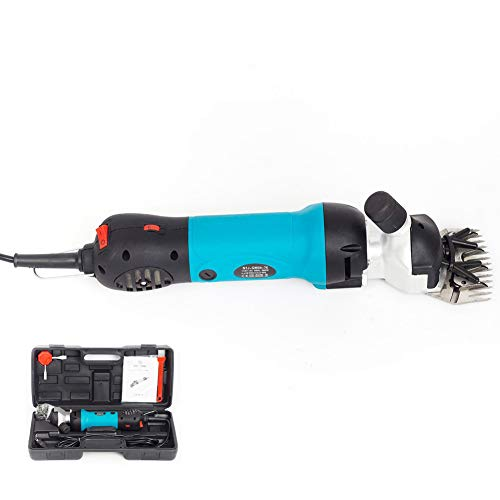 Electric Sheep Shears 350W Portable Clippers For Goats,Horse,Livestock,Blue,EU (Best Clippers For Shearing Angora Goats)