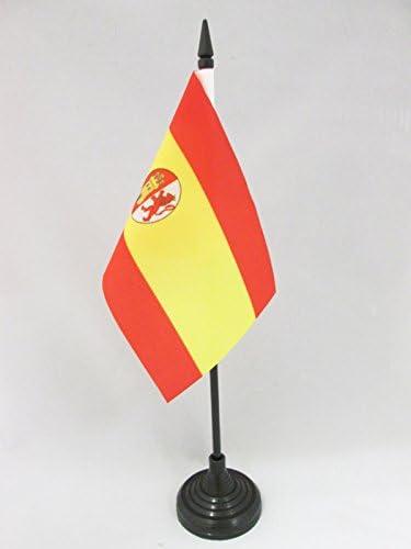 AZ FLAG Bandera de Mesa de la Primera REPÚBLICA DE ESPAÑA 1873-1874 15x10cm - BANDERINA de DESPACHO ESPAÑOLA Antigua 10 x 15 cm: Amazon.es: Jardín