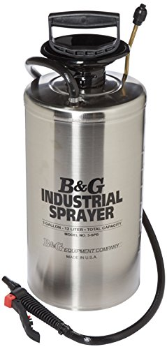 B & G Equipment 12012600 Stainless Steel Industrial Sprayer, 3 gals, Adjustable and Fan Tip, 18