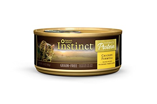 Nature's Variety Instinct Ultimate Protein Grain Free Chicken Formula Canned Cat Food, 5.5 oz. Cans (Case of 12) (Raw Canned Cat Food compare prices)