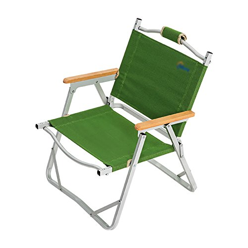 Camping Chairs WSSF- Ultralight Lounge Chair Outdoor Aluminium Alloy Green Director's Fishing Lazy Sun Lounger Backrest Armchair Dining Chair (Outdoor Aluminium Furniture Sun Lounger)
