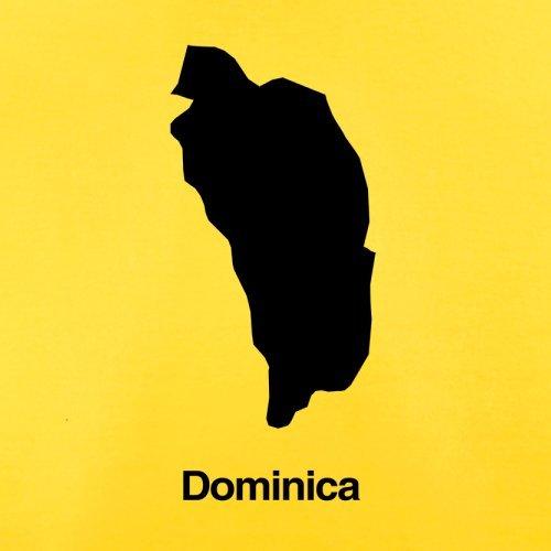Dominica Silhouette - Herren T-Shirt - Gelb - S
