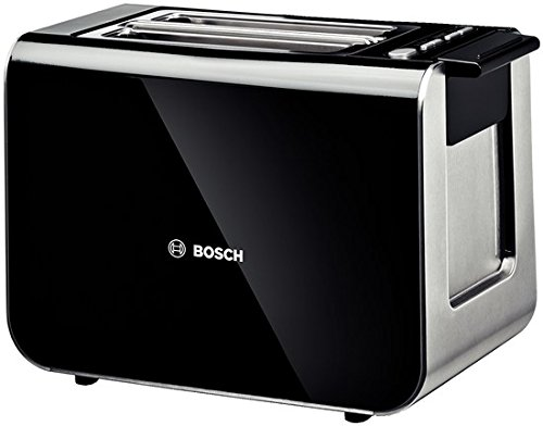 Bosch TAT8613GB Styline 2 Slice Toaster, Black[Energy Class A]