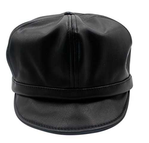 Leather Motorcycle Cap - 8
