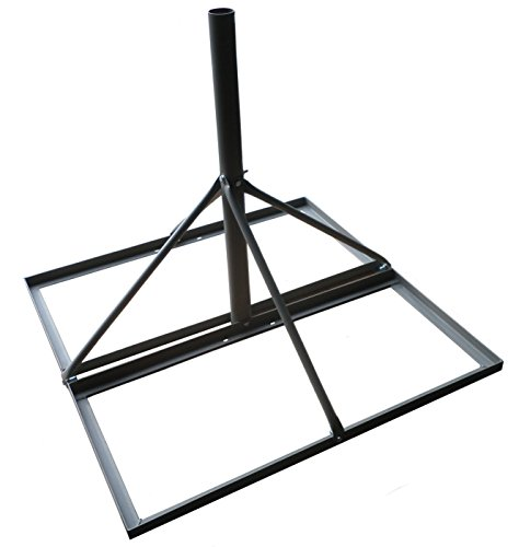 Non-penetrating Roof Mount 35''x35'' Base 30'' Mast 2'' Diameter Gray by ABP Digital