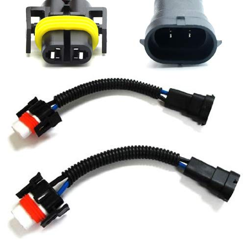 iJDMTOY (2) H11 H8 Heavy Duty Ceramic Wiring Harness Sockets For Headlights or Fog Lights