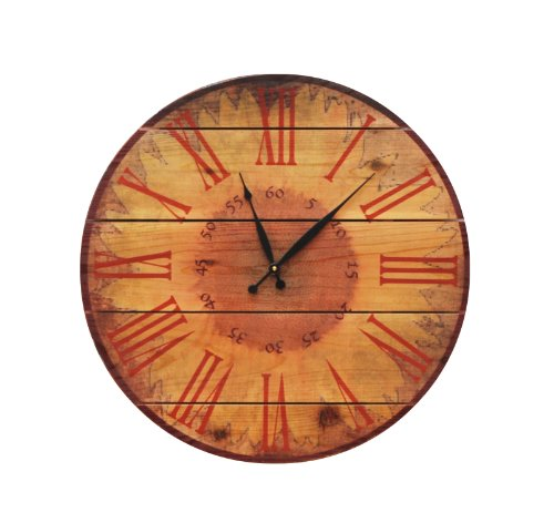 Gizaun Art Warm Sunflower Clock Yard Art, 24-Inch