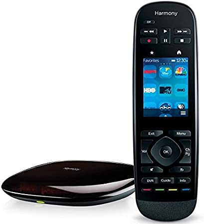 New Logitech Harmony Touch Universal Remote w//Color Touchscreen Black Free Ship