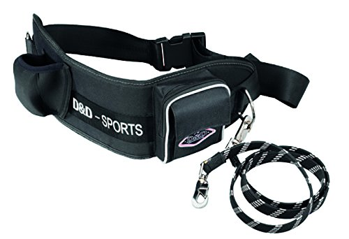 D&D Sports Active Walker for Big Dogs Reflective, 70-110cm, Black (Padding Leashes Collars)