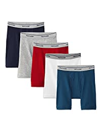 Fruit of the Loom Big Boy's 5-Pack Boxer Briefs