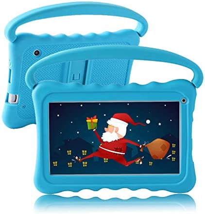 Kids Tablet 7 Toddler Tablet for Kids Edition Tablet with WiFi Camera Children's Tablets Android 8.1 Parental Control with Shockproof Case 1GB + 16GB Google Play YouTube Netflix (Blue)
