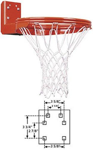 Rear Double Mount Rim - First Team Super Duty Double Rim Rear Mount Fixed Basketball Goal