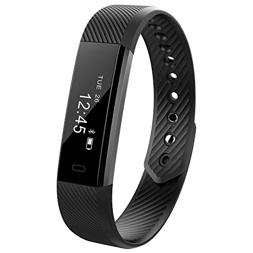 Smart Fitness Activity Tracker - 11TT YG3 Sport Bracelet Wristband Pedometer Touch Screen with Step Tracker Calorie Counter Sleep Monitor Call Notification Push for iPhone iOS and Android Phone (Black)