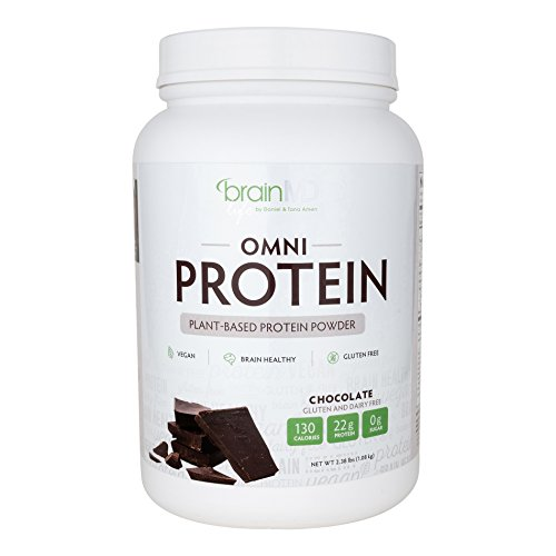 Dr. Amen Brain MD, OMNI Chocolate Protein Powder Real Cocoa, Vegan, Sugar Free No Gluten by BrainMD Health