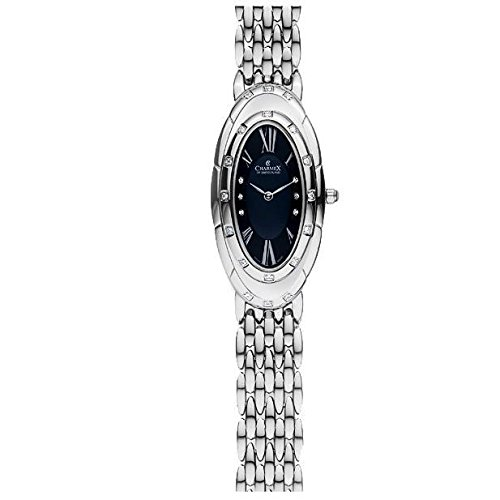 Charmex L's Bracelet Watch 5902 23.5x41mm Silver Steel Bracelet & Case Synthetic Sapphire Women's Watch