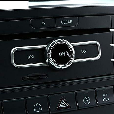ACAMPTAR Chrome Accessoire Int/érieur CD Switch Paillette Garniture pour Mercedes Cla1 Classe Gla B Classe A180 W176 Gle Classe Coup/é Car Styling